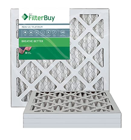 afb platinum merv 13 18x18x1 pleated ac furnace air filter. pack of ...