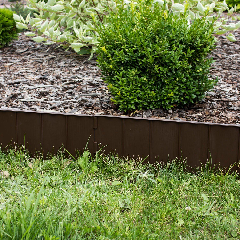 Prosper Plast IKRR R222 595 X 16 Cm Garden Fence   Brown (12 Piece):  Amazon.co.uk: Garden U0026 Outdoors