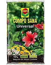Compo 1113124011 Sana Universal 10 L [Tierra, Sustrato, Turba, Plantas-Calidad Garantizada-Ideal para Interior y Exterior-Contiene Agrosil y Perlita], 44x27x5.5 cm