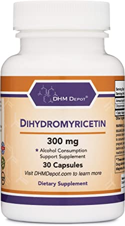 Dihydromyricetin (DHM) (Hovenia Dulcis Extract) Alcohol Consumption Support Supplement (Naturally Obtained from The Oriental Raisin Tree) 30 Capsules 300mg