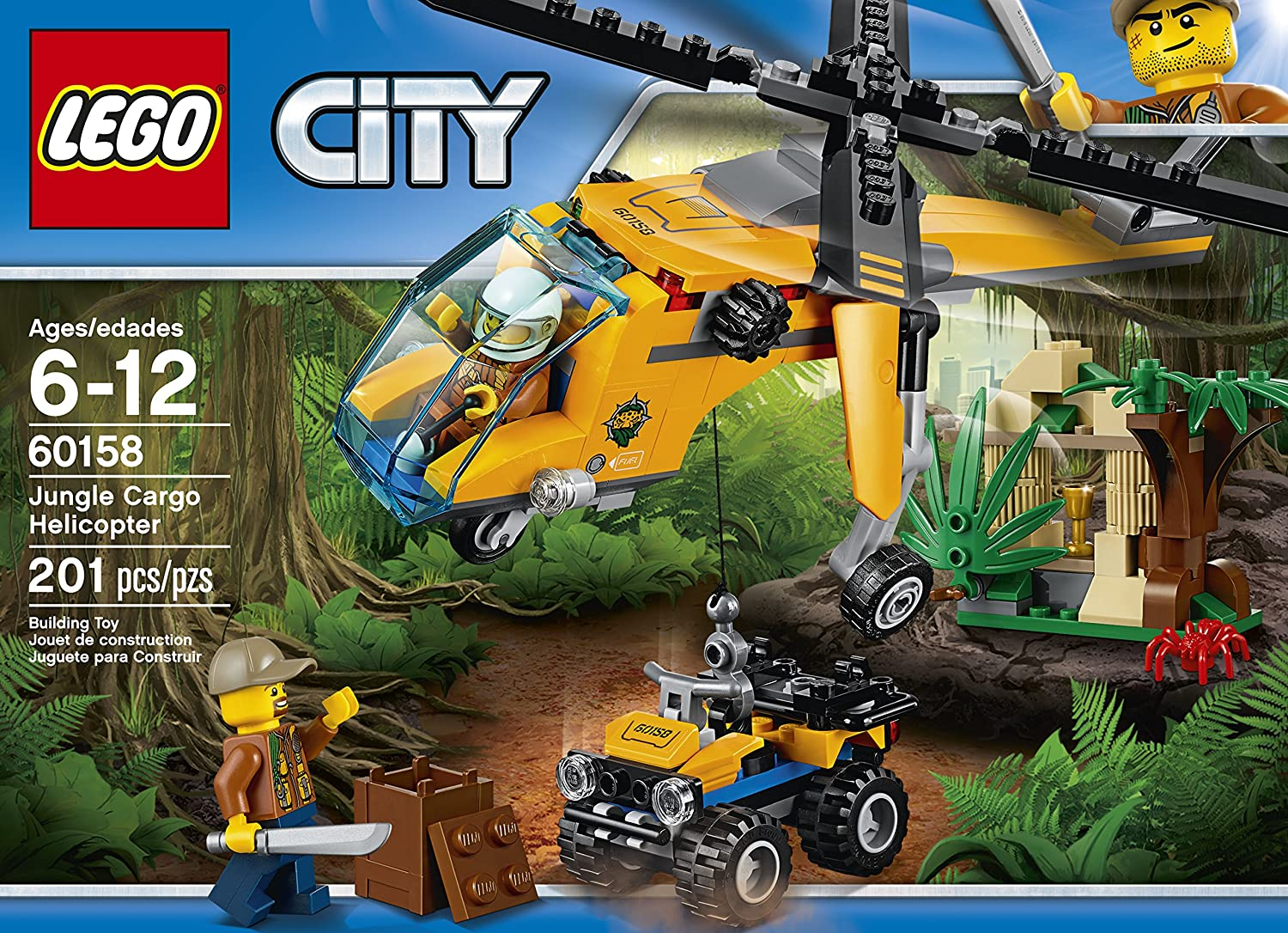 Amazon Com Lego City Jungle Explorers Jungle Cargo Helicopter 60158