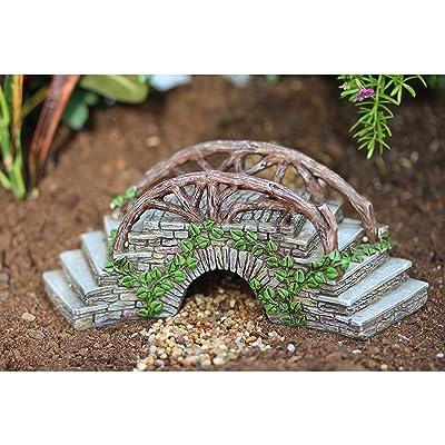 Miniature Fairy Garden Enchanted Bridge With Stairway: Garden & Outdoor