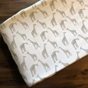 Giraffe (Taupe) Contoured Changing Pad Cover