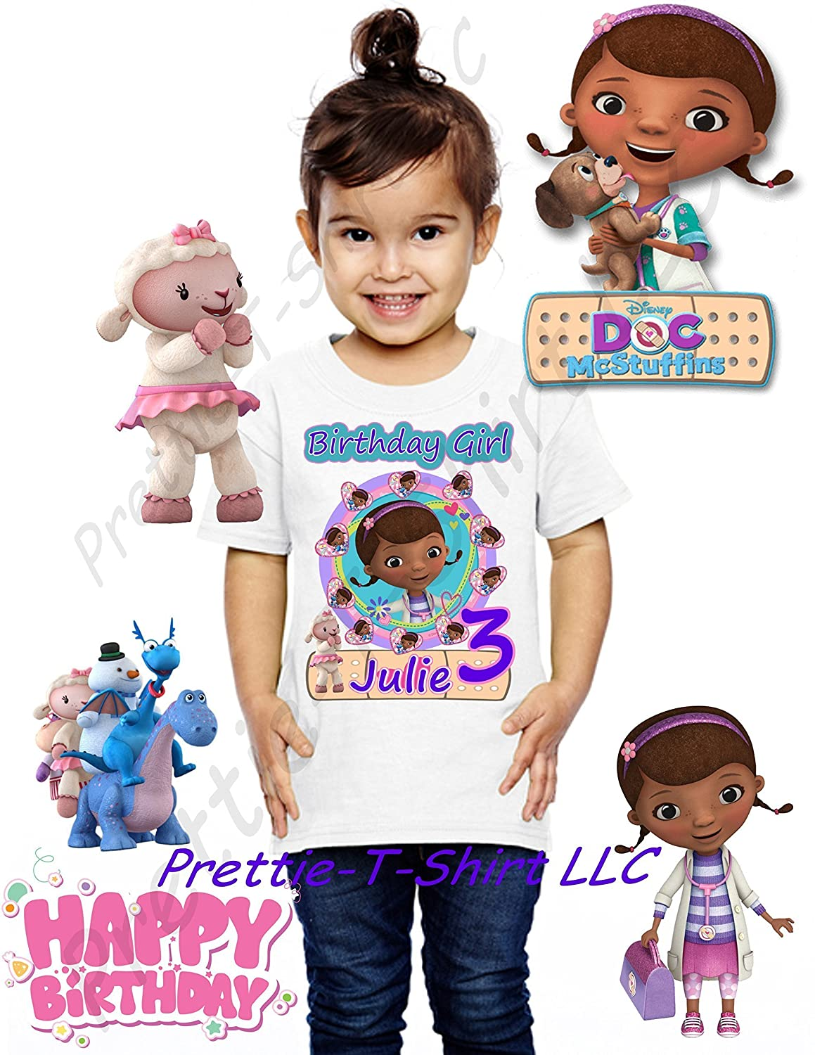 Doc McStuffins Birthday Shirt ADD Any Name ANY Age GIRL