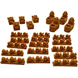 Build3D Settlers of Catan Compatible Replacement Board Game Pieces - Ottoman Empire - Single Player - Brown - UPDATED COLOR
