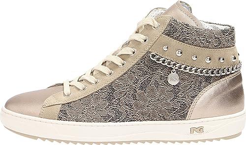 8eb2c783fb Nero Giardini Donna Sneakers Beige (Bronzo) P805082D Scarpe in Pelle  Primavera Estate 2018,
