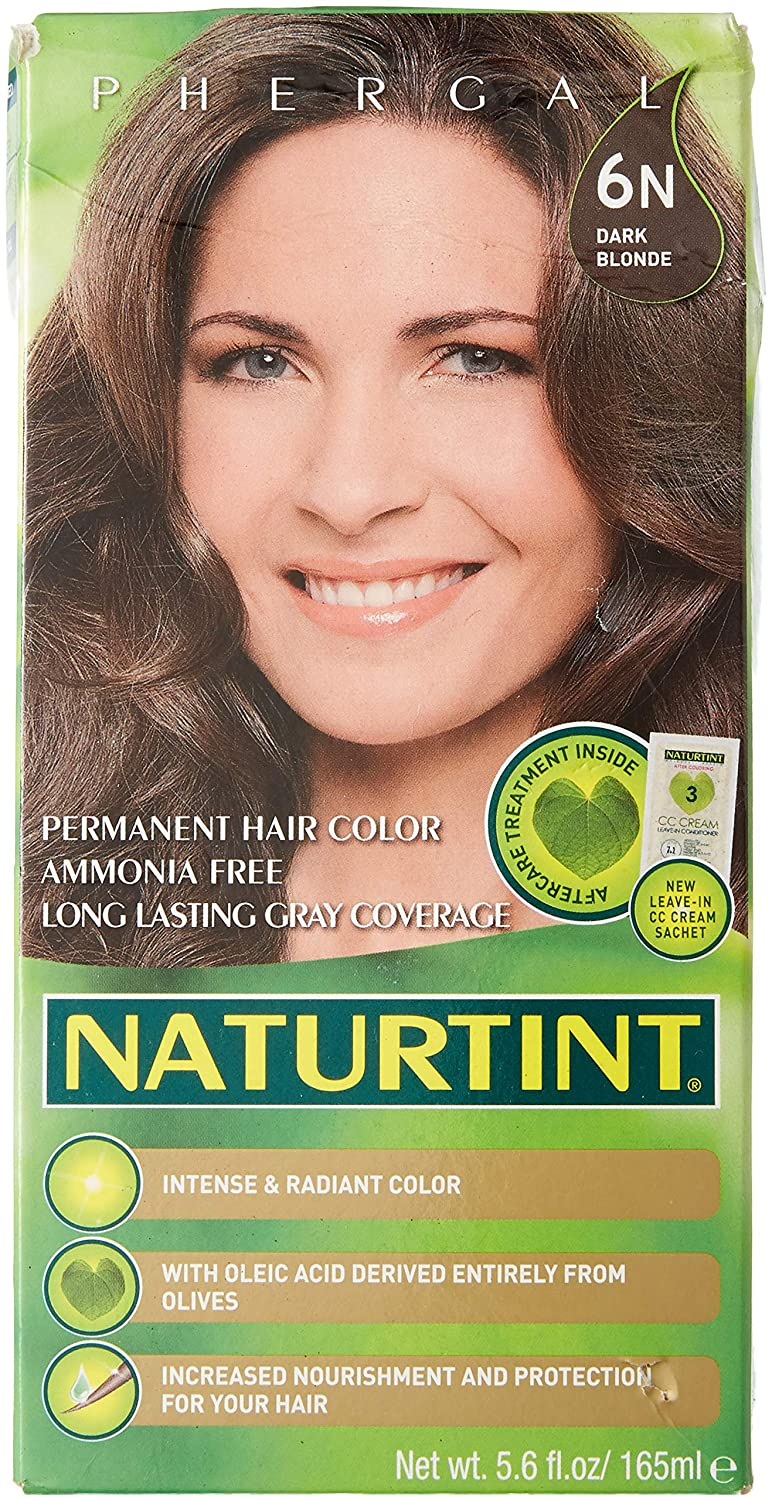 Naturtint Permanent Hair Color 6N Dark Blonde (Pack of 1), Ammonia Free, Vegan, Cruelty Free, up to 100% Gray Coverage, Long Lasting Results