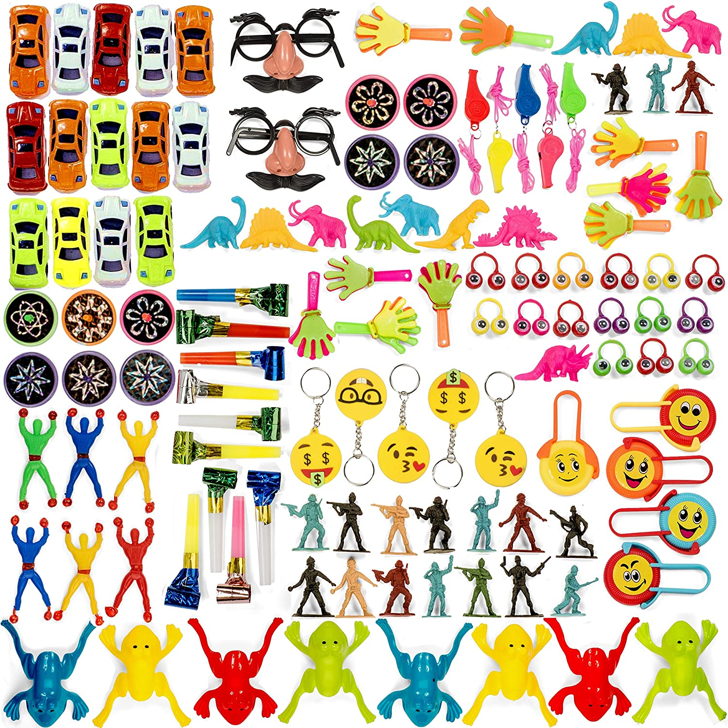 Bulk Toy Assortment 120 Piece Party Favors for Kids Treasure Box Prizes for Classroom Pinata Filler Small Toys Goodie Bag Fillers