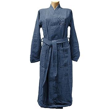 0207cdfc25 Versace 1969 Peignoir de Bain, Taille M/L : Femme, Bleu: Amazon.fr ...