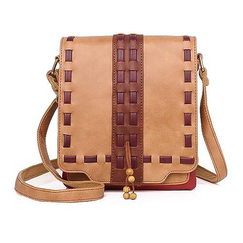 8145a6432452 Women Crossbody Bag with Retro Tassel Multi Zip Pocket Shoulder Bag Faux  Leather Purse and Handbag Adjustable Strap