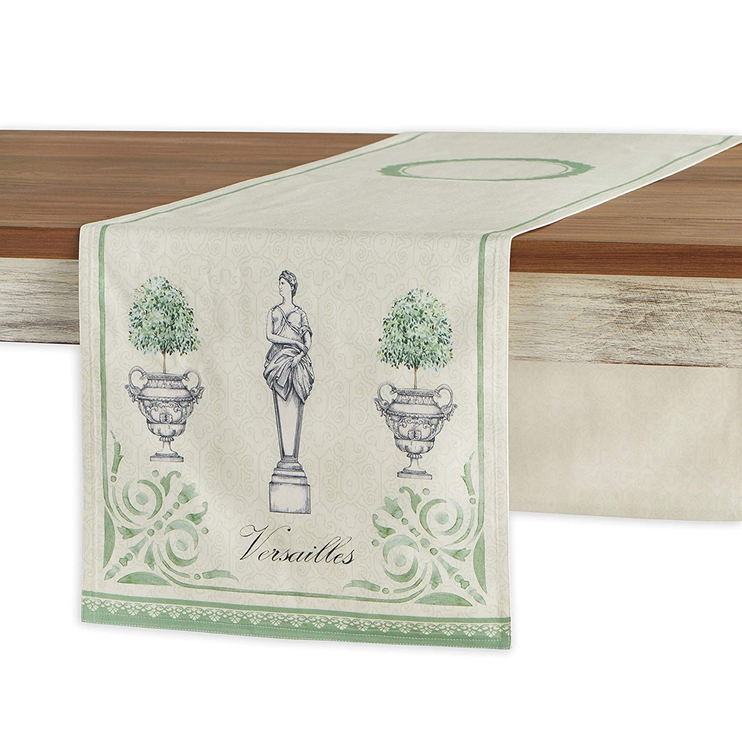 Maison D Hermine Jardin Du Roy 100 Cotton Table Runner 14 5 Inch By 72 Inch
