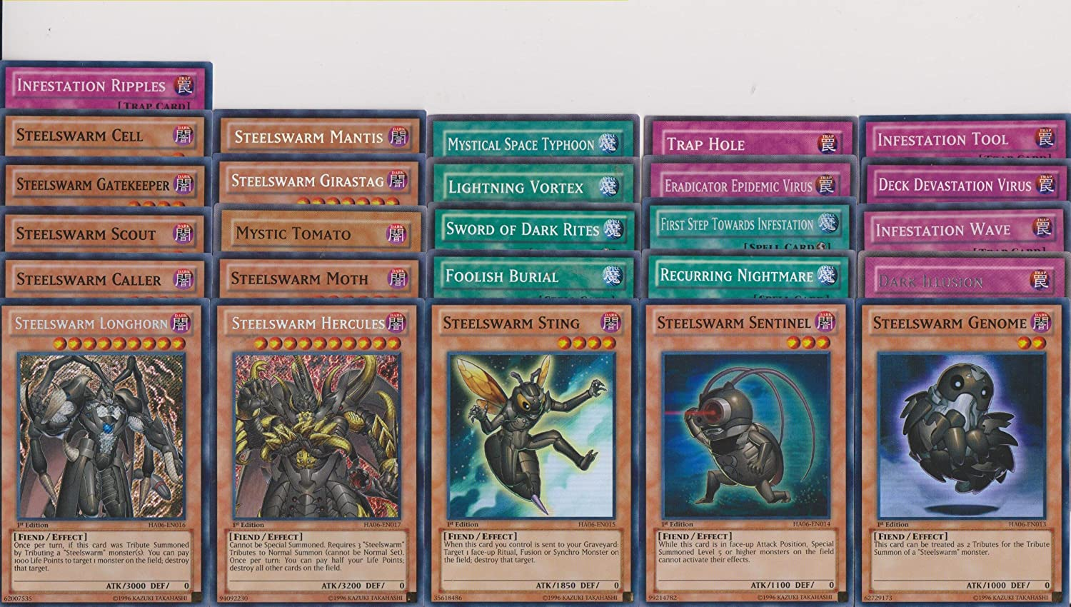 Amazon.com: YuGiOh steelswarm Deck Builder Lot 26 Tarjetas ...