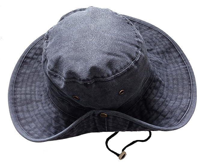 Cappello a tesa larga unisex uomo donna Safari Outback Australian Style  100% cotone ec68c10a99a3