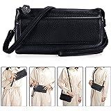 Befen Leather Wristlet Clutch Smartphone Crossbody Wallet with Card Slots/Shoulder Strap/Wrist Strap
