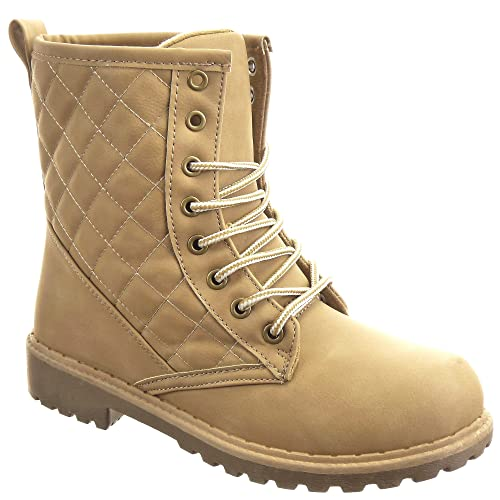 Sopily - Zapatillas de Moda Botines Altas Tobillo mujer Talón Tacón ancho 3.5 CM - Camel WL-YD-1 T 41 - UK 8: Amazon.es: Zapatos y complementos