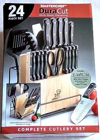 MasterChef duracut 24 piezas Juego de cuchillos de cocina ...