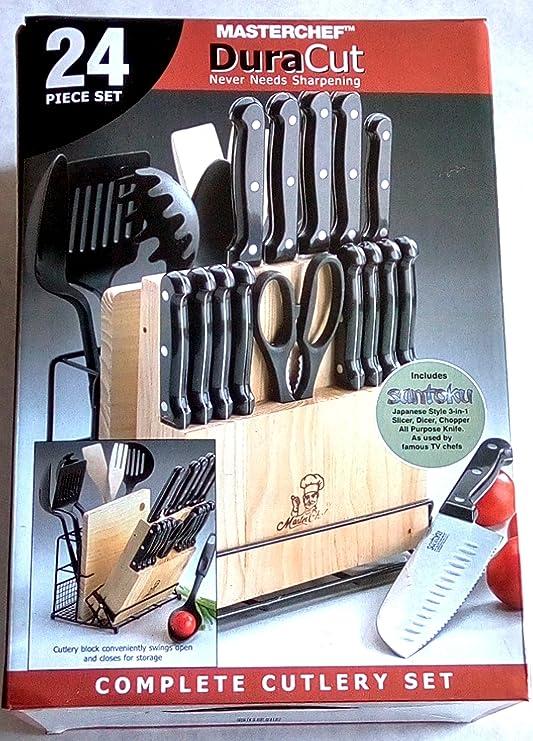 MasterChef duracut 24 piezas Juego de cuchillos de cocina con ...