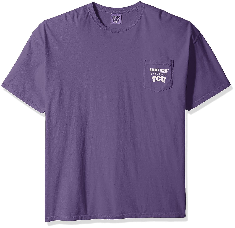 【正規逆輸入品】 NCAA Horned TCU Horned B01MQWPIXA Frogs野球フレームショートスリーブポケットTシャツ NCAA、XXL、グレープ B01MQWPIXA, 彫姫工房:98c64578 --- a0267596.xsph.ru