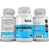 Built Wellness Probiotic Supplement: Pro-Wellness, 60 Delayed Release Capsules, 30 billion CFU, 15 Strain