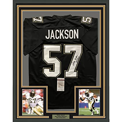 Image Unavailable. Image not available for. Color  Framed Autographed Signed  Rickey Jackson 33x42 New Orleans Saints Black Football Jersey JSA COA 9cdb62455