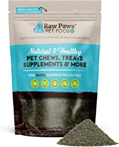 Raw Paws Pet Organic Sea Kelp for Dogs & Cats, 16-oz Seaweed Powder - Icelandic Kelp Supplements for Dogs Supports Thyroid Function - Dried Ocean Kelp for Dogs