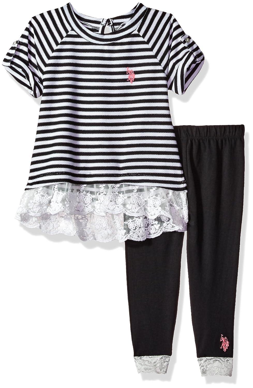 U.S Girls Fashion Top and Legging Set Polo Assn