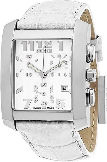 Fendi F751144 - Reloj de pulsera para mujer con cronógrafo de acero inoxidable, correa de