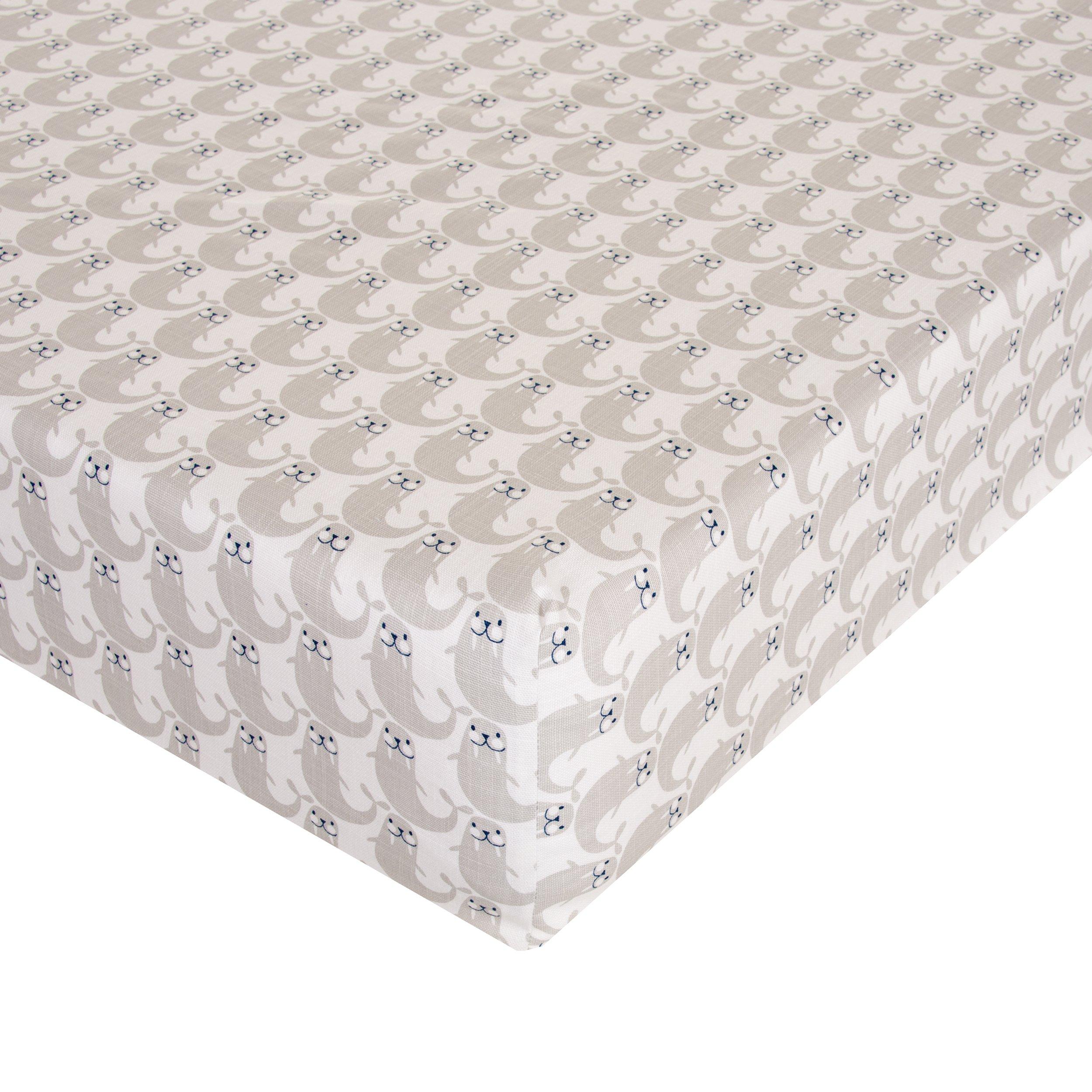Glenna Jean Walrus Crib Sheet Fitted 28''x52''x8'' Nursery Standard