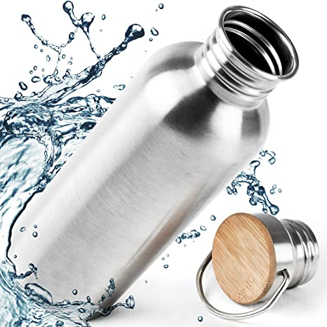 Pure Design Botella Acero Inoxidable para Niños e Infantil, Reutalizable, Libre de BPA, Ecologica, 750ml, 110% Garantia