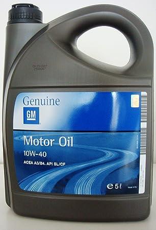 General Motor: aceite semisintético 10w-40 ACEA A3/B4 API SL/CF, bidón de 5 l: Amazon.es: Coche y moto