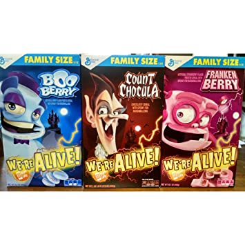 Amazon.com: Count Chocula, Boo Berry, Franken Berry, Monster ...