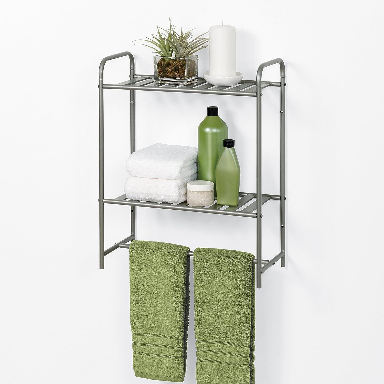 Amazon.com: Zenna Home 2265NN Slat Style Bathroom Spacesaver, Satin Nickel: Home & Kitchen