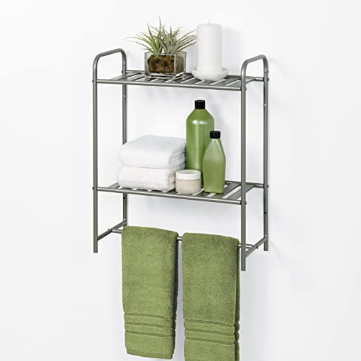 Amazon.com: Zenna Home 2258NN Slat Style Bathroom Linen Tower, Satin Nickel: Home & Kitchen