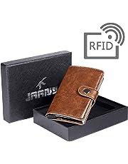 Tarjetero RFID Cartera Crédito, Cartera Tarjeta de Crédito Monedero de Cuero PU Cartera de Aleación