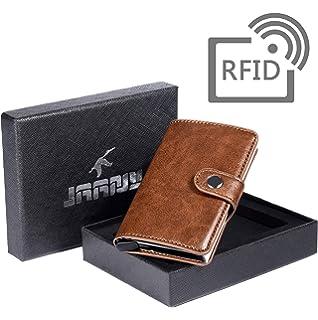 ced2466cb0 Porta Carta di Credito, Portafoglio per Carte di Credito RFID Blocco Pelle  PU, Mini