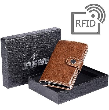 Tarjetero RFID Cartera Crédito, Tarjetero para Tarjetas de Crédito Cartera de Aleación de Aluminio Multiuso