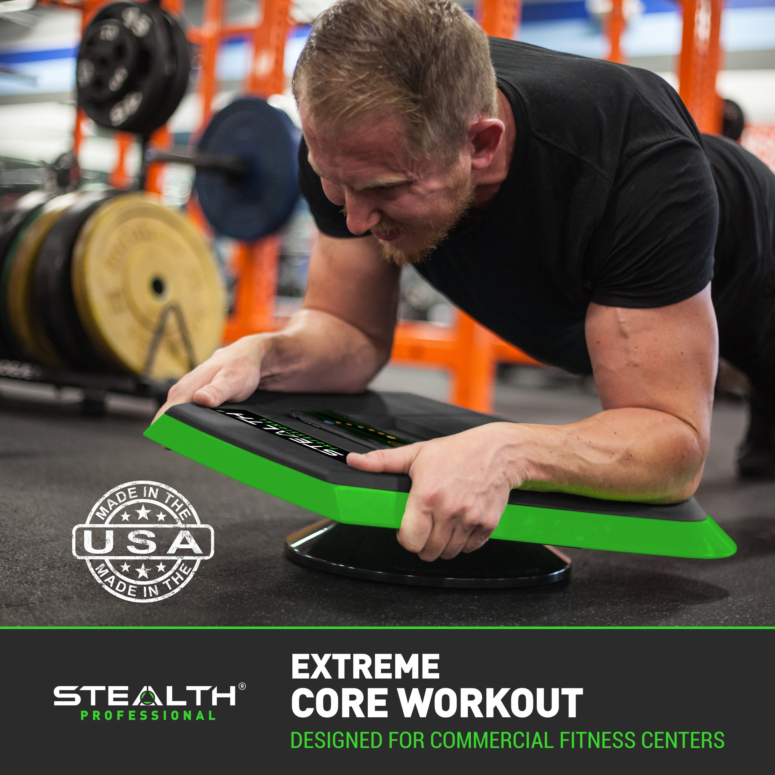 Stealth Core Trainer Professional, Dynamic Ab Plank Workout, Interactive Fitness Board Powered By GamePlay Technology For a Healthy Back and Strong Core (Glow Green) by Stealth (Image #5)