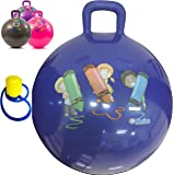 bintiva Hippity Hop 45 Cm Including Free Foot Pump, For Children Ages 3-6 Space Hopper, Hop Ball Bouncing Toy 1 Ball (Blue)