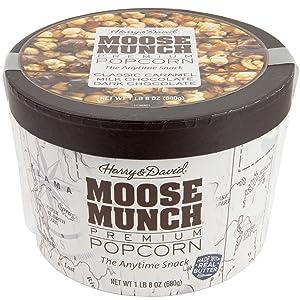 Harry & David Moose Munch Gourmet Popcorn 1lb 8 Oz Assortment Drum