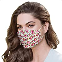 Flower Mask With Nose Wire Reusable and Washable with 4 Carbon Filters | Floral Mask | Designer Face Mask | Cotton Face…
