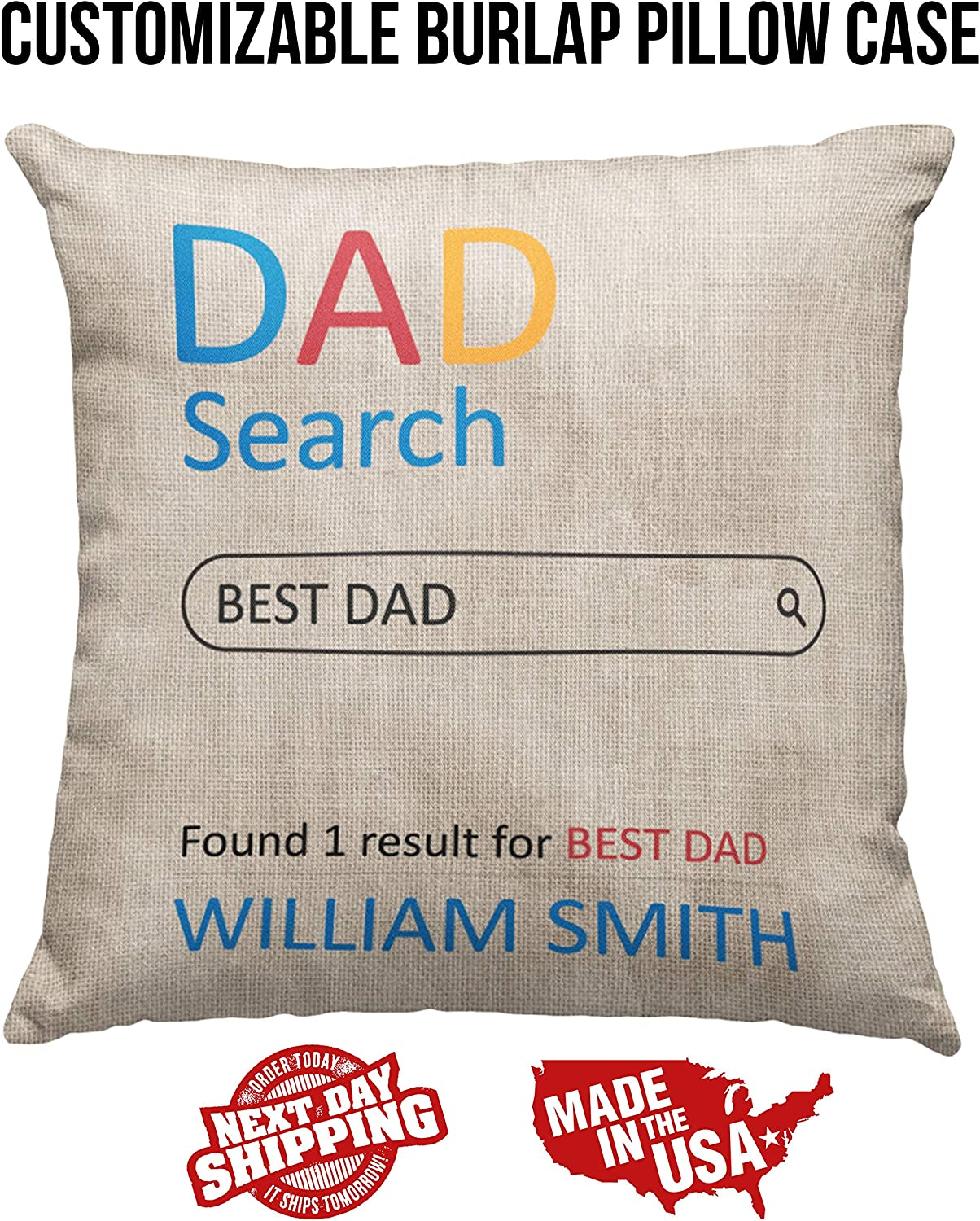 Father/'s Day Gift Best Dad Cushion Cover With Photo Custom Cushion Gift For Dad With Photo Personalized Pillow For Father