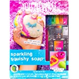 You*Niverse Make Your Own Sparkling Squishy Soaps by Horizon Group Usa, DIY 5 Colorful Unicorn, Doughnut, Heart, Smiley Face, Pizza Squishy Soap, Multicolored