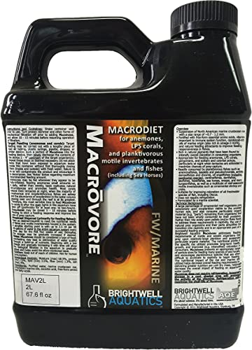 Brightwell Aquatics Macrovore - Macrodiet Liquid Food for Anemones, Corals, Invertebrates Fish