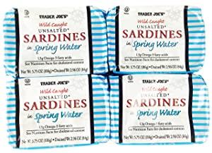 Trader Joe's Wild Caught Unsalted Sardines in Spring Water 4 Pack