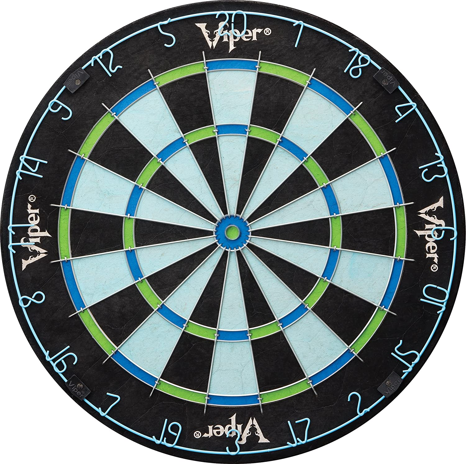 Amazon.com : Viper Chroma Sisal/Bristle Steel Tip Dartboard with ...