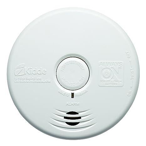 Kidde 002518.0030 wfpco Detector de Humo y monóxido de Carbono Combinado con Fijo batería de Litio ...