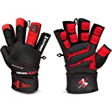 Weightlifting Gloves for Gym Fitness Crossfit Bodybuilding - Workout Gloves for Men & Women - Dominator Leather Crossfit Cross Training Gloves W. Wrist Strap Wrap - Best Weight Lifting Gloves with Wrist Support for Heavy Lifting - 1 Year Replacement Warranty