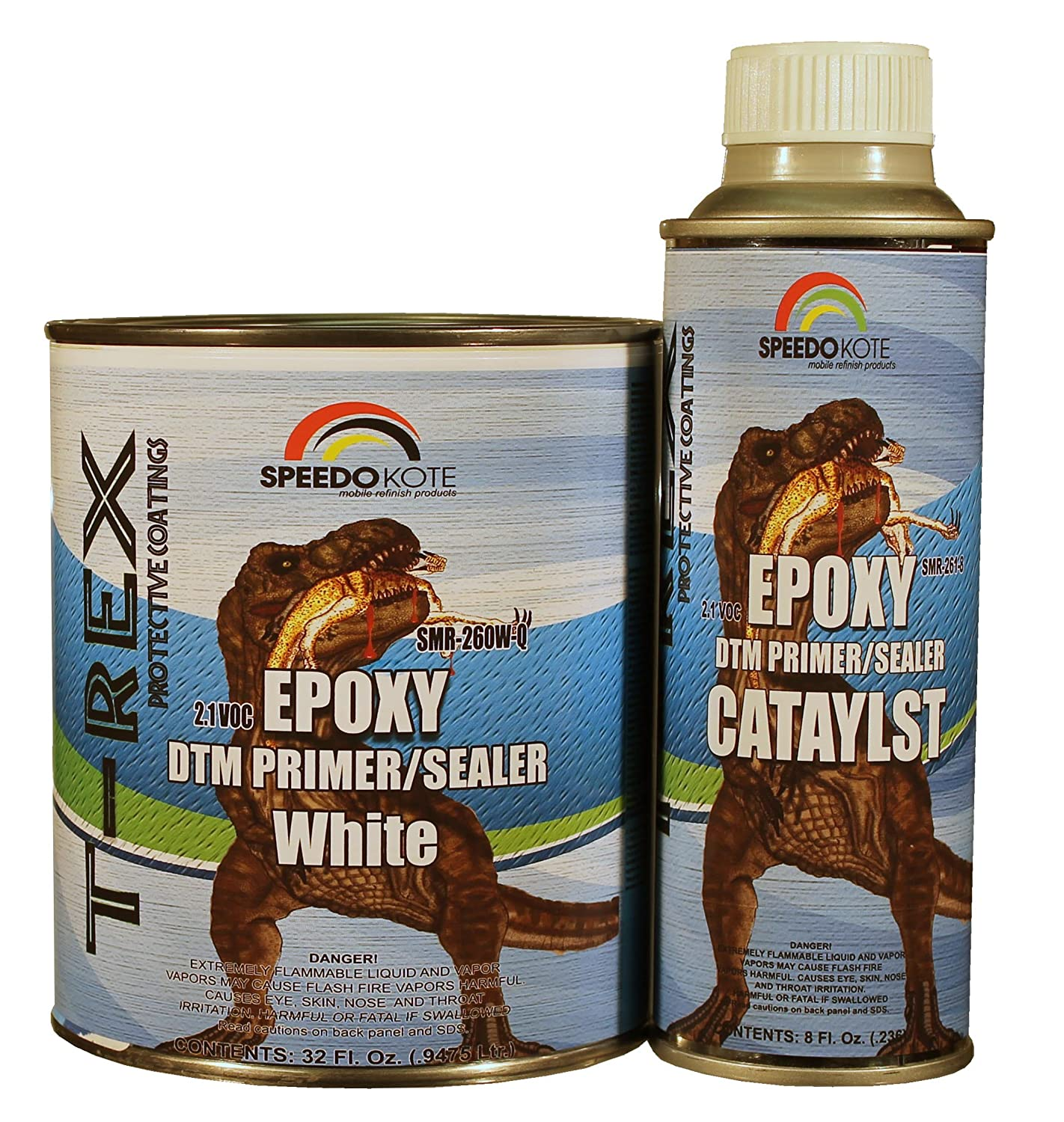 Epoxy Fast Dry 2.1 low voc DTM Primer & Sealer White Quart Kit, SMR-260W-Q/261-8 Speedokote