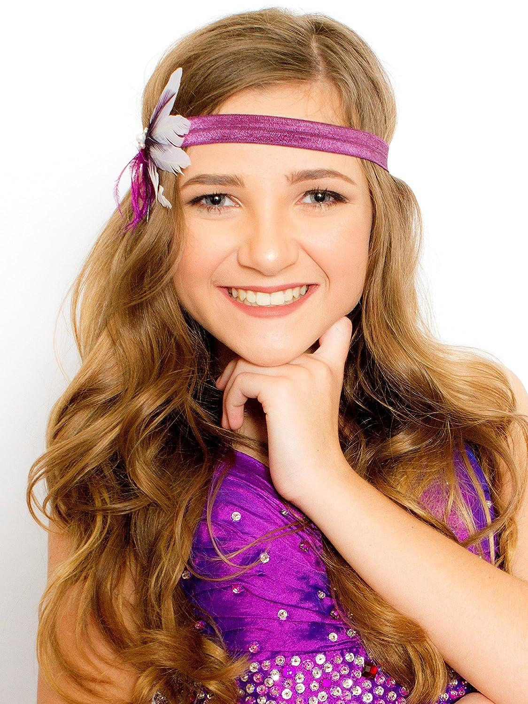 Amazon.com  White Dark Purple Hair Fascinator - Feather Accessories -  Wedding Bridal Special Occasion Bridesmaid Clip  Handmade 95c632dd1a2