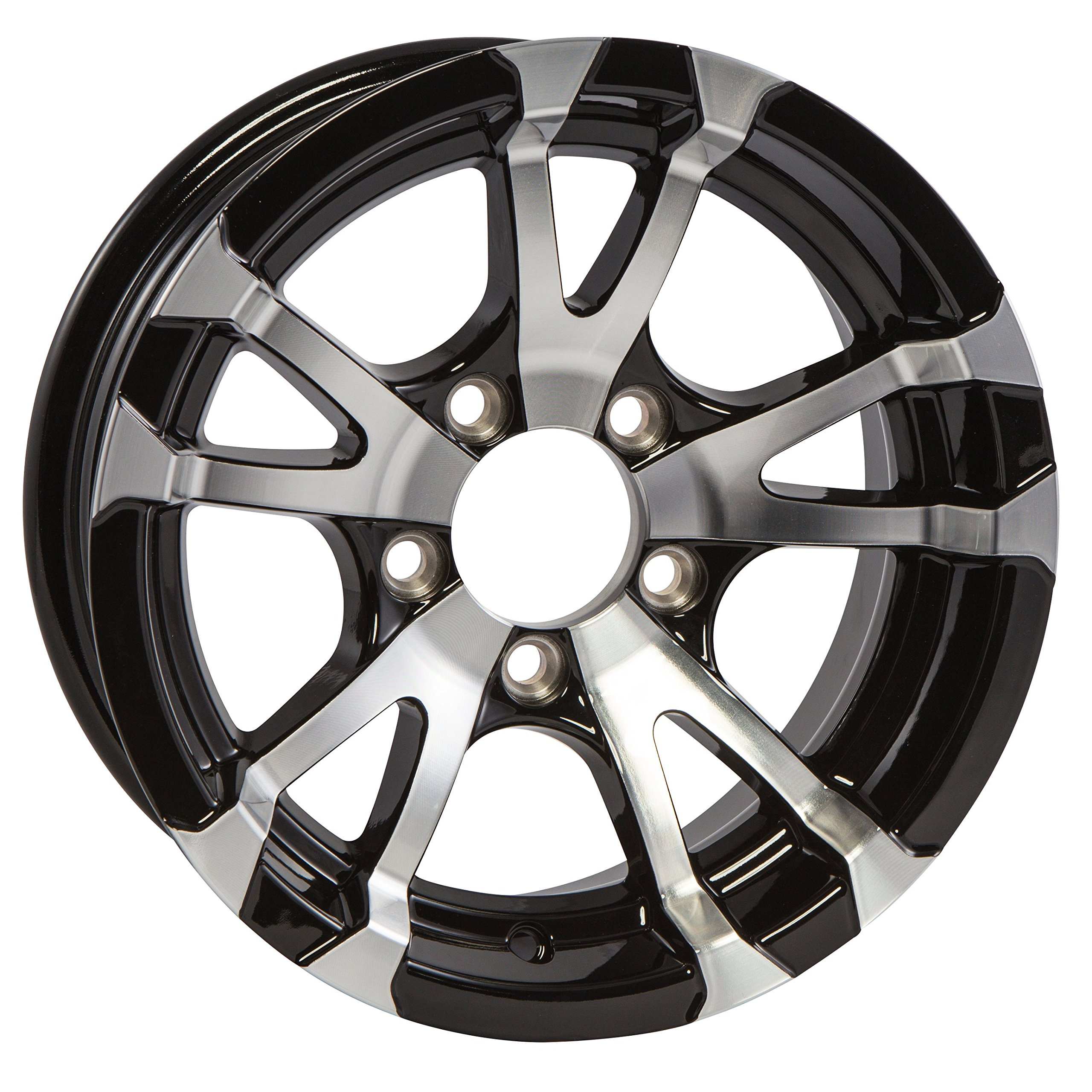 eCustomRim Aluminum Boat Camper Trailer Rim Wheel 5 Lug 13'' Avalanche V-Spoke/Black